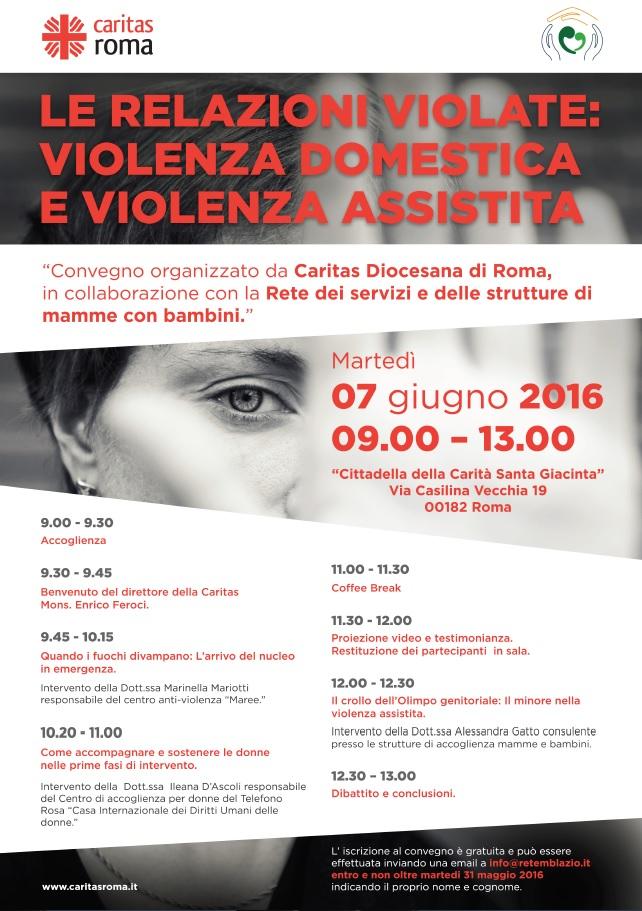 Locandina - Le relazioni violate: violenza domestica e violenza assistita