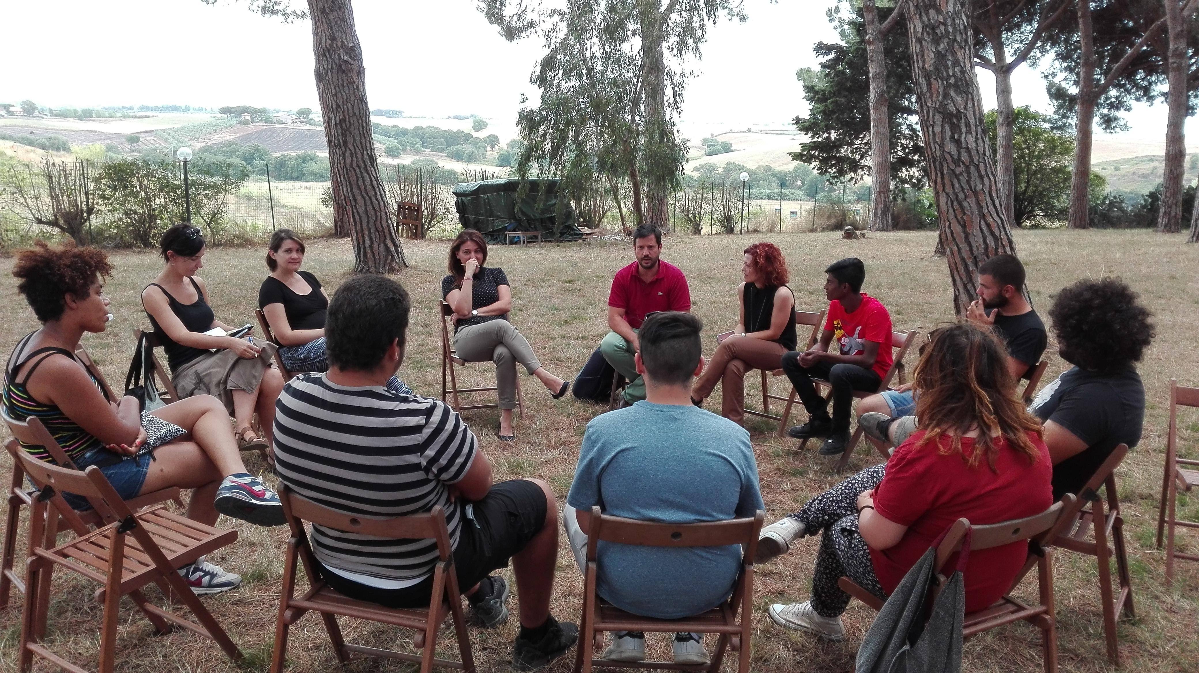 Giornata a La Nuova Arca con i ragazzi del progetto Le Imprese e i Giovani
