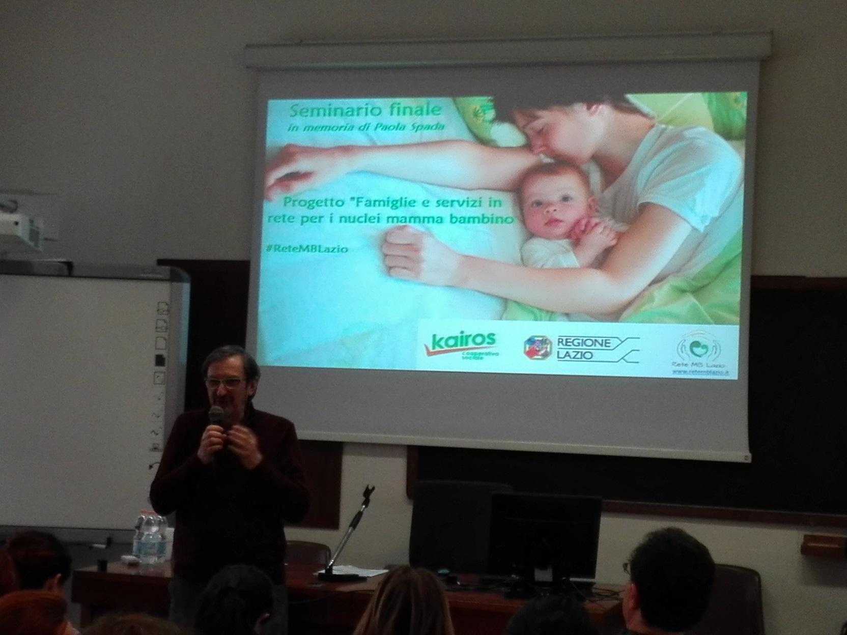 """Martino Rebonato è intervenuto per Kairos al Seminario finale del progetto """"Famiglie e servizi in rete per i nuclei mamma-bambino"""""""