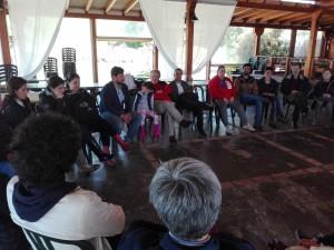 Il cerchio, momento iniziale delle Giornate di Agricoltura Sociale