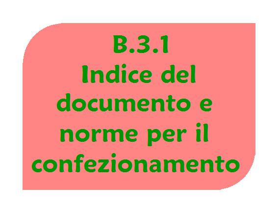Indice del documento finale e norme di confezionamento