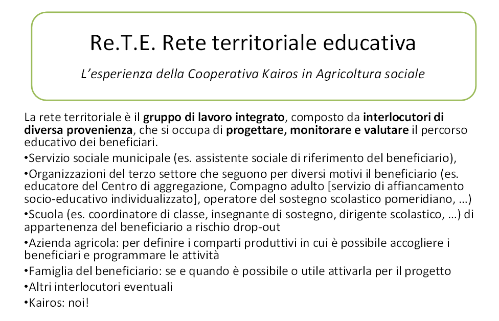 Cos'è una rete territoriale educativa