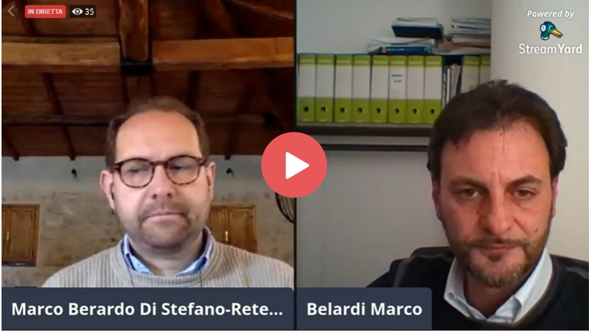 Live con Marco Belardi - Riguarda il video su Facebook