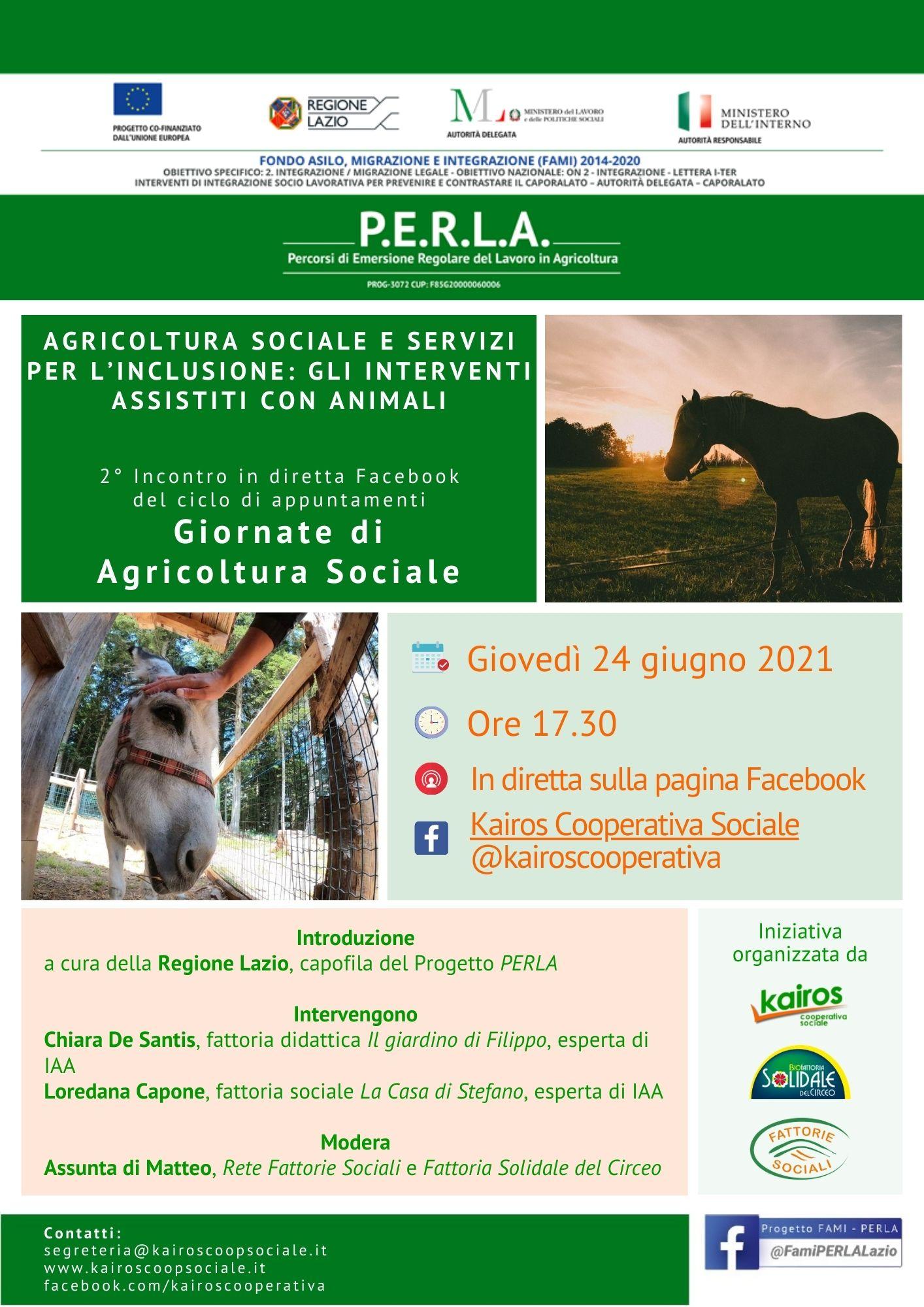 Agricoltura Sociale e Servizi per l'inclusione: gli Interventi Assistiti con Animali